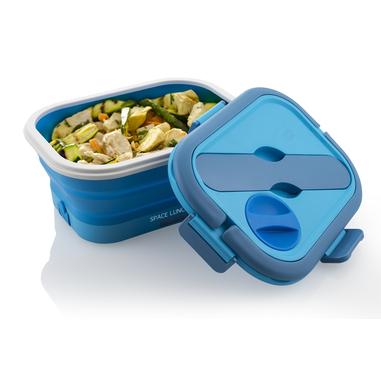 Macom Space Lunch To Go 0,8 L Blu, Bianco Adulto 35 W