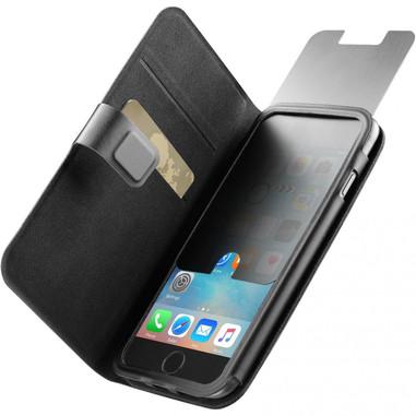 Cellularline Top Secret - iPhone 6/6s Custodia a libro che protegge lo smartphone da occhi indiscreti Nero