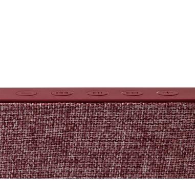 Rockbox Slice Fabriq Edition Bluetooth Speaker Ruby