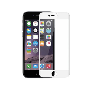 Phonix Tempered Glass Screen Protector 3D Curved per Apple iPhone 6 / 6s - Bianco