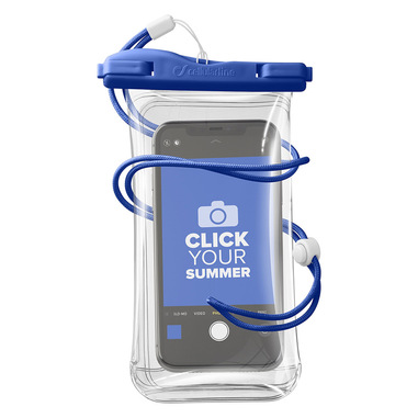 Cellularline Voyager - Universale Custodia Impermeabile per Smartphone Blu
