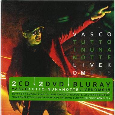 Tutto in una notte Live Kom 015, 2CD+2DVD+Blu-ray
