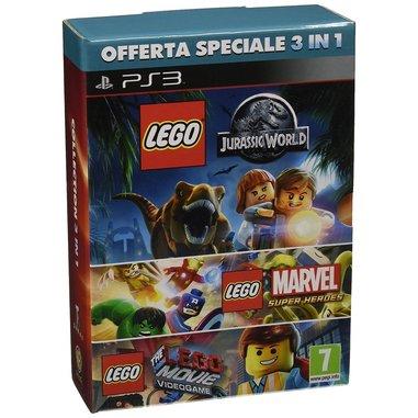 LEGO Jurassic World, LEGO Marvel, LEGO Movie - PlayStation 3