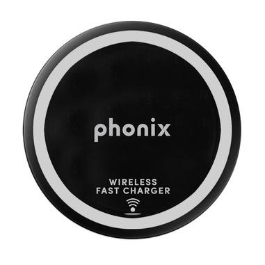 Phonix Caricabatteria Wireless USB con Tecnologia Qi - Nero