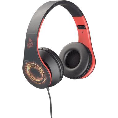 Music Sound Wired Headphones - Universale Cuffie a filo colorate con archetto estendibile Rosso/Giallo