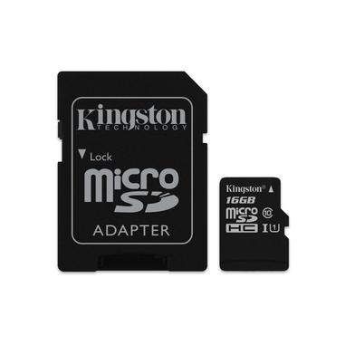 Kingston Technology microSDHC Class 10 UHS-I Card 16GB 16GB MicroSDHC UHS-I Classe 10 memoria flash