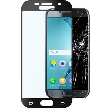 Cellularline Second Glass Capsule - Galaxy A5 (2017) Vetro temperato resistente con cornice Trasparente Nero