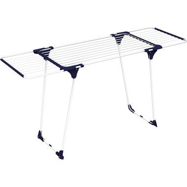 Gimi Aliante Stendibiancheria da pavimento Blu, Bianco