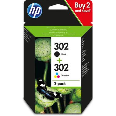 HP Confezione da 2 cartucce d'inchiostro nero/tricromia originali 302