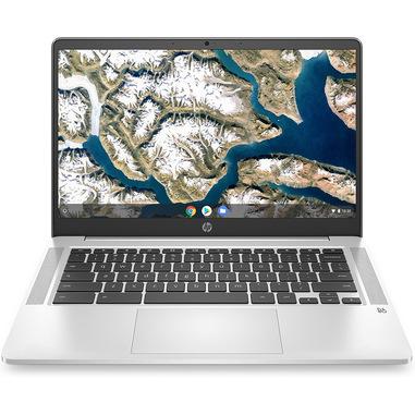 "HP Chromebook 14a-na0019nl 35,6 cm (14"") 1920 x 1080 Pixel Intel® Celeron® 4 GB LPDDR4-SDRAM 64 GB eMMC Wi-Fi 5 (802.11ac) Chrome OS Argento"