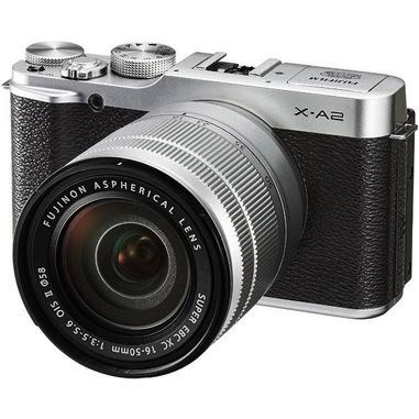 Fujifilm X-A2 + XC16-50mm MILC 16,3 MP CMOS 4896 x 3264 Pixel Nero, Argento