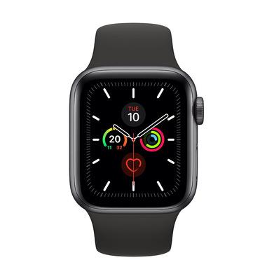 Apple Watch Series 5 GPS, 40mm in alluminio grigio siderale con cinturino Sport Nero