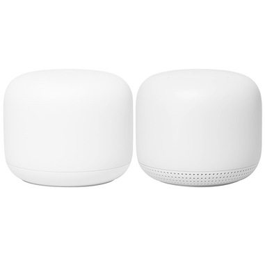 Google Nest Wifi, Router and Point 2-pack router wireless Dual-band (2.4 GHz/5 GHz) Gigabit Ethernet Bianco