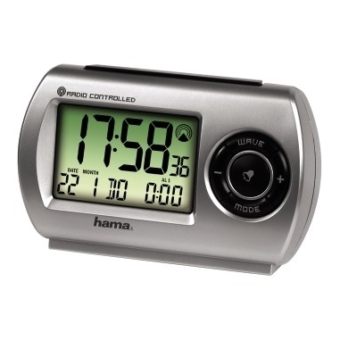 "Hama ""RC300"" Travelling Alarm Clock Nero, Argento"