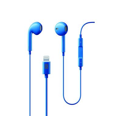 Cellularline Swan - Lightning Auricolari a stereo a capsula con remote control Blu