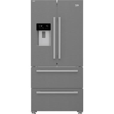 Beko GNE60530DXN frigorifero side-by-side Libera installazione 530 L F Argento, Acciaio inossidabile