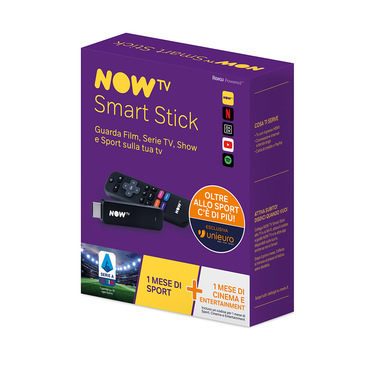 Now TV Stick Special Sport (Unieuro Limited Edition) con incluso il primo mese dei Pass Sport, Cinema e Entertainment