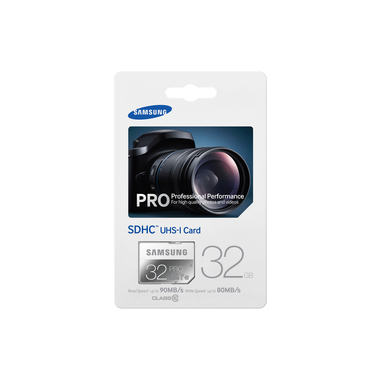 Samsung 32GB, SDHC, Pro 32GB SDHC UHS Classe 10 memoria flash