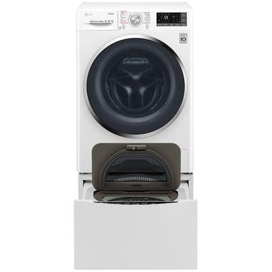 LG TWINWash F4J7VY2WD Libera installazione Carica frontale 9kg 1400Giri/min A+++ Nero, Bianco lavatrice + Mini Wash F8K5XN3 2 kg
