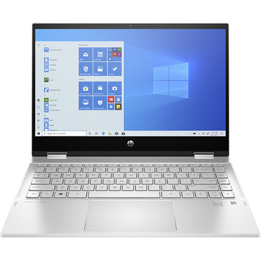 "HP Pavilion x360 14-dw0006nl Ibrido (2 in 1) Argento 35,6 cm (14"") 1920 x 1080 Pixel Touch screen Intel® Core™ i3 di decima generazione 8 GB DDR4-SDRAM 256 GB SSD Wi-Fi 5 (802.11ac) Windows 10 Home"