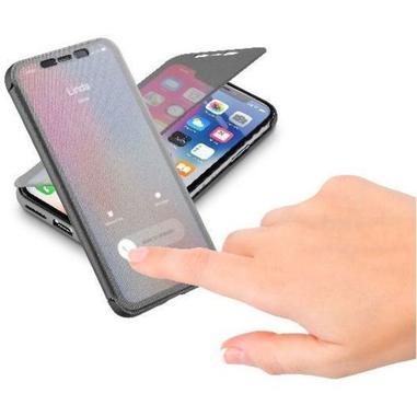 Cellularline BOOK TOUCH Custodia a libro per iPhone X, nero