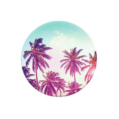 PopSockets Palm Trees Telefono cellulare/smartphone Grigio, Multicolore