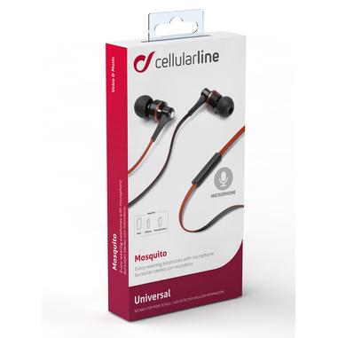 Cellularline Mosquito - Universale Auricolari in-ear leggeri dal suono pulito Rosso