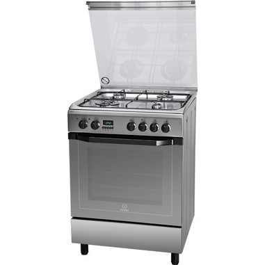 Indesit I6TMH6AF(X)/I Libera installazione Piano cottura a gas A Acciaio inossidabile cucina