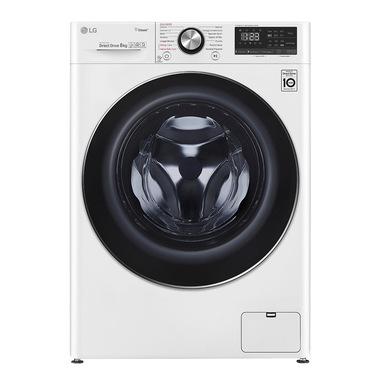 LG F4WV808S2 lavatrice Libera installazione Caricamento frontale Bianco 8 kg 1400 Giri/min A+++-40%