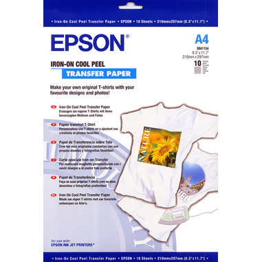 Epson Iron-on-Transfer Paper - A4 - 10 Fogli