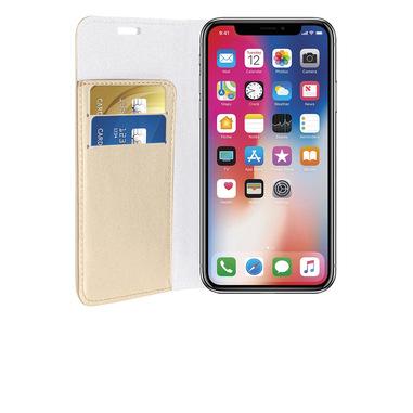 Phonix Custodia a Libro in Ecopelle Sparkling per Apple iPhone X - Oro