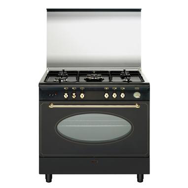 Glem UAN96TR cucina Piano cottura Nero, Bronzo Gas A