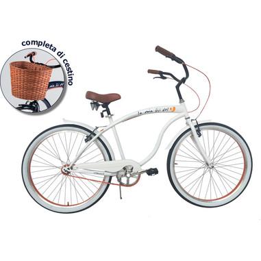 BeBikes BeCruiser limited edition + cestino (taglia S) bianca