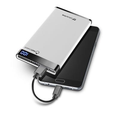 Cellularline Freepower Manta 6000 - Universale Caricabatterie portatile sottile, veloce, potente Bianco