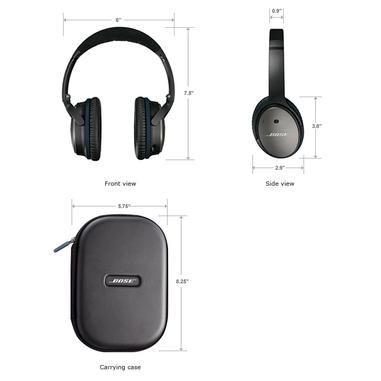 Bose® cuffie QuietComfort® 25 Acoustic Noise Cancelling® per dispositivi Apple® nero