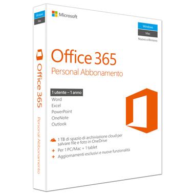Microsoft Office 365 Personal, 1Y, IT  (in abbinata con un PC)