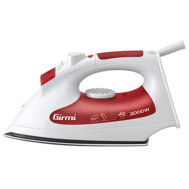 Girmi ST15 Ferro da stiro a secco e a vapore Acciaio inossidabile 2000W Rosso, Bianco