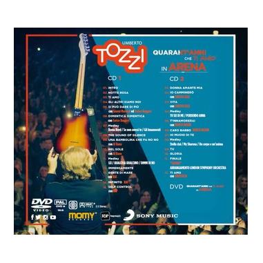 Live all'Arena di Verona. 40 Anni che ti amo, 2CD + DVD DVD/CD World music