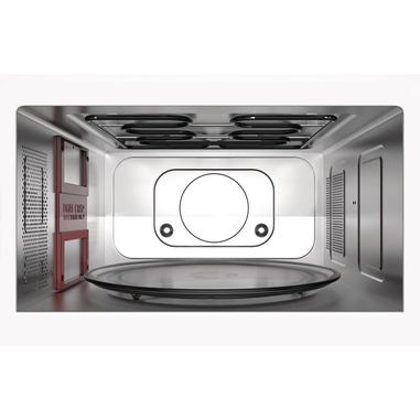 Whirlpool MWP 337 SB Piano di lavoro Microonde con grill 33L 900W Nero, Argento