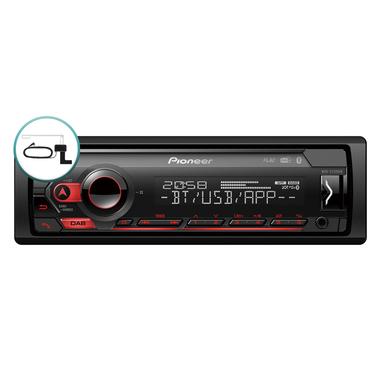 Pioneer MVH-S420DABAN Ricevitore multimediale per auto Nero 200 W Bluetooth
