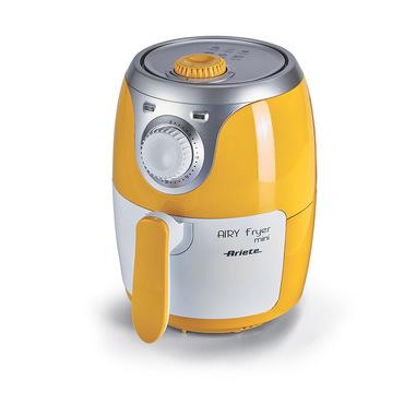 Ariete Airy fryer mini Friggitrice ad aria calda 2 L Singolo Argento, Bianco, Giallo Indipendente 1000 W