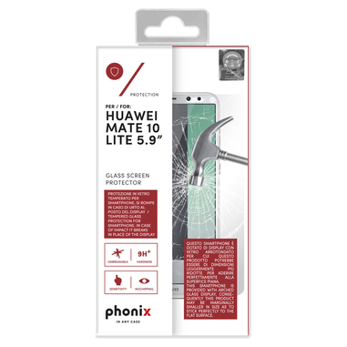 Phonix Tempered Glass Screen Protector per Huawei Mate 10 Lite