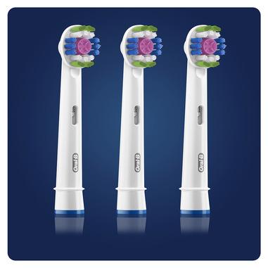 Oral-B 3D White Testine Di Ricambio (Confezione Da 3 Pezzi) Con Tecnologia CleanMaximiser