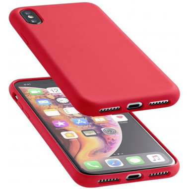 Cellularline Sensation - iPhone XS Max Custodia in silicone soft touch Rosso