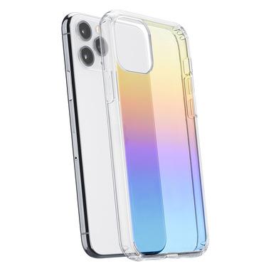 Cellularline Prisma - iPhone 11 Pro Custodia semi-trasparente con effetto iridescente Trasparente