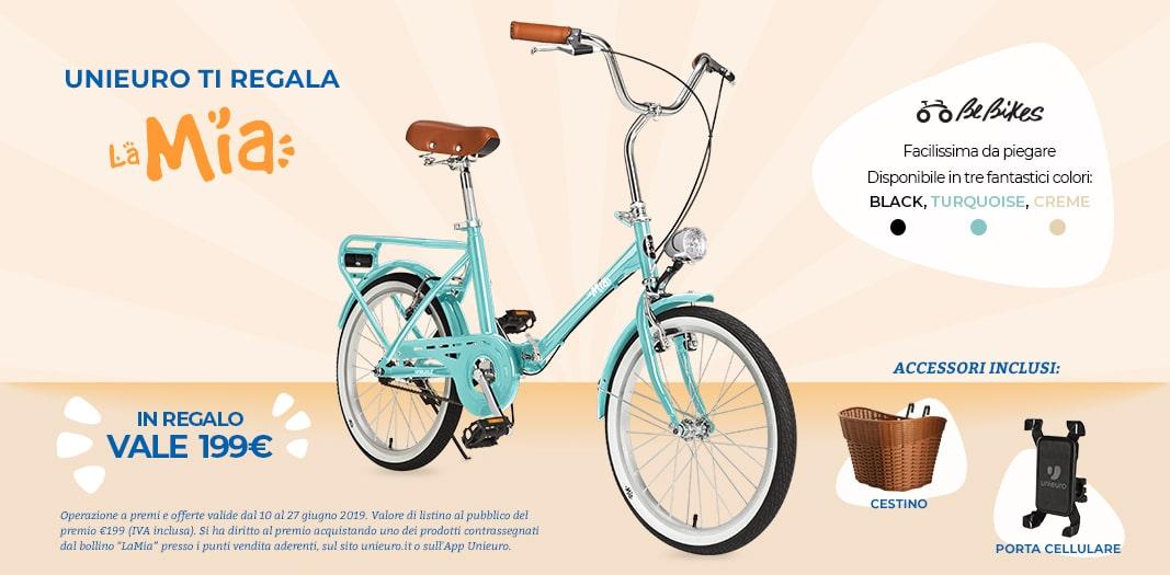 Unieuro ti regala la bicicletta pieghevole LaMia