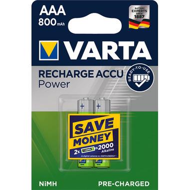 Varta Power Accu AAA 800 mAh Batteria ricaricabile Nichel-Metallo Idruro (NiMH)