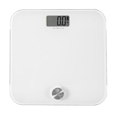 Macom Smart Body Scale Bilancia pesapersone elettronica con funzionamento senza batterie Quadrato Bianco