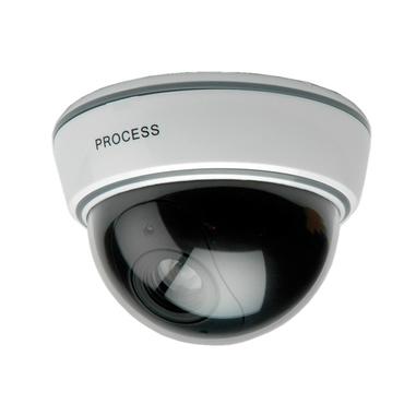 Value Telecamera finta a cupola con luce LED lampegiante, bianca