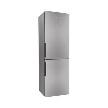 Hotpoint XH8 T2I X frigorifero con congelatore Libera installazione 348 L E Grigio, Acciaio inossidabile
